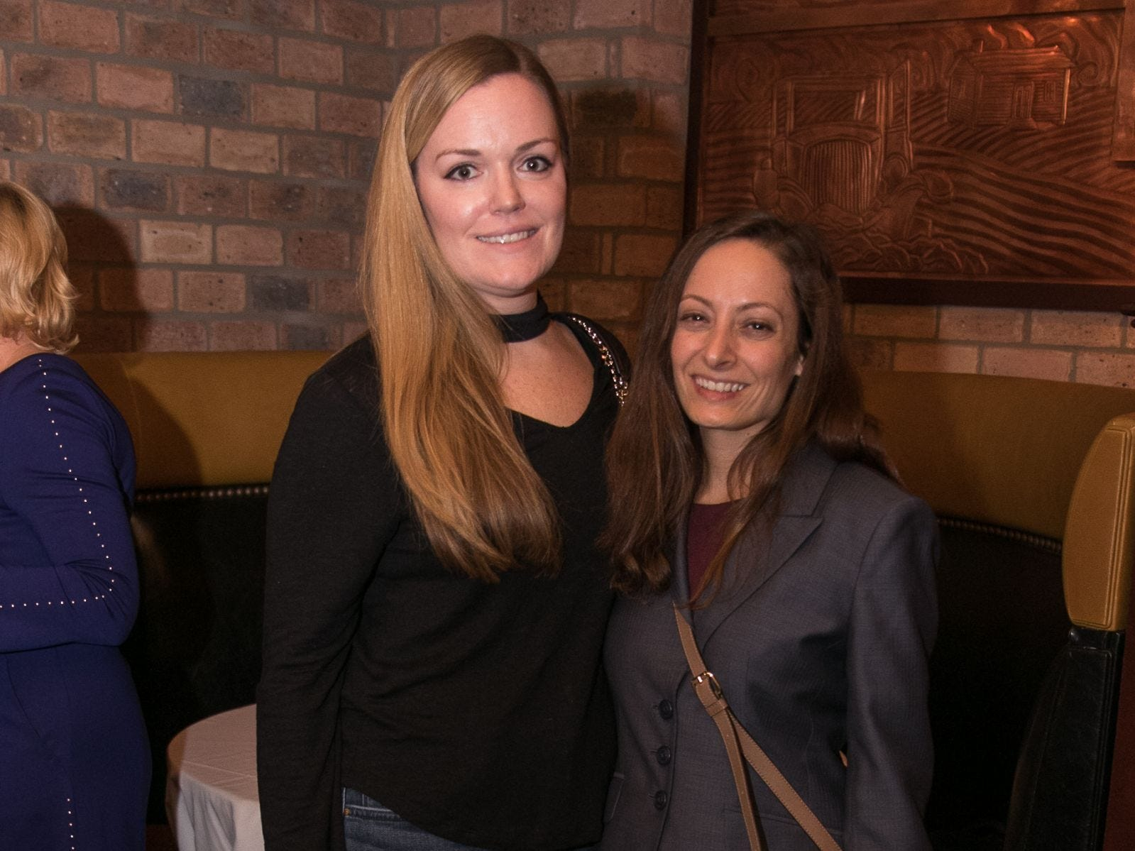 Vanessa Falkenstern, Dana Bressman. Christina Gibbons of Special Properties held a cocktail reception to acknowledge her clients at Roots Steakhouse in Ridgewood. 02/07/2019