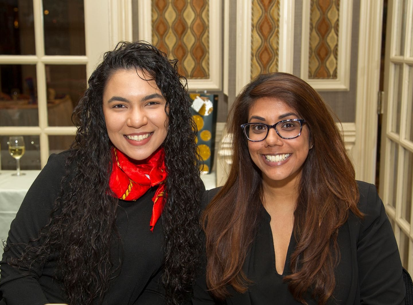 Evelyn Pena, Tansina Ahmed. A Night at the Races hosted by OASIS at the Brownstone in Paterson. 2/7/2019