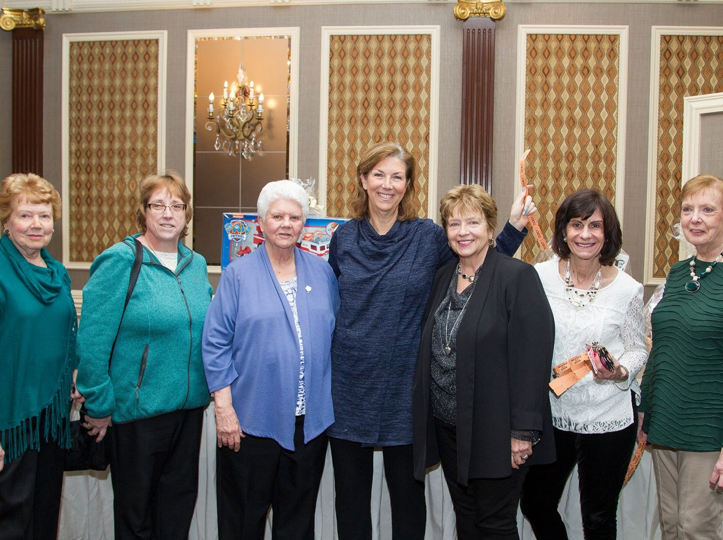 Maryann Miko, Sue Moleti, Sister Rosemarie Kean, Deb Duffy, Gloria Oberle, Denise Nicolosi, Lorraine Schroers.  A Night at the Races hosted by OASIS at the Brownstone in Paterson. 2/7/2019