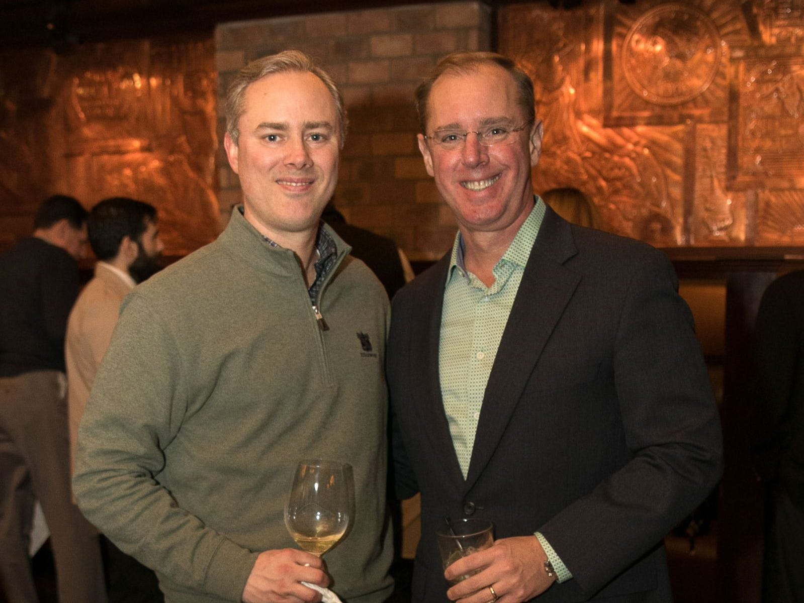 Brian Gibbons, Greg Pierce. Christina Gibbons of Special Properties held a cocktail reception to acknowledge her clients at Roots Steakhouse in Ridgewood. 02/07/2019