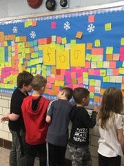 "Students in Pompton Lakes elementary schools are participating in the ""Look for the Good"" campaign to recognize acts of charity and acknowledge loved ones through Feb. 15, 2019. The campaign includes a growing ""Gratitude Wall"" where students post messages of appreciation."
