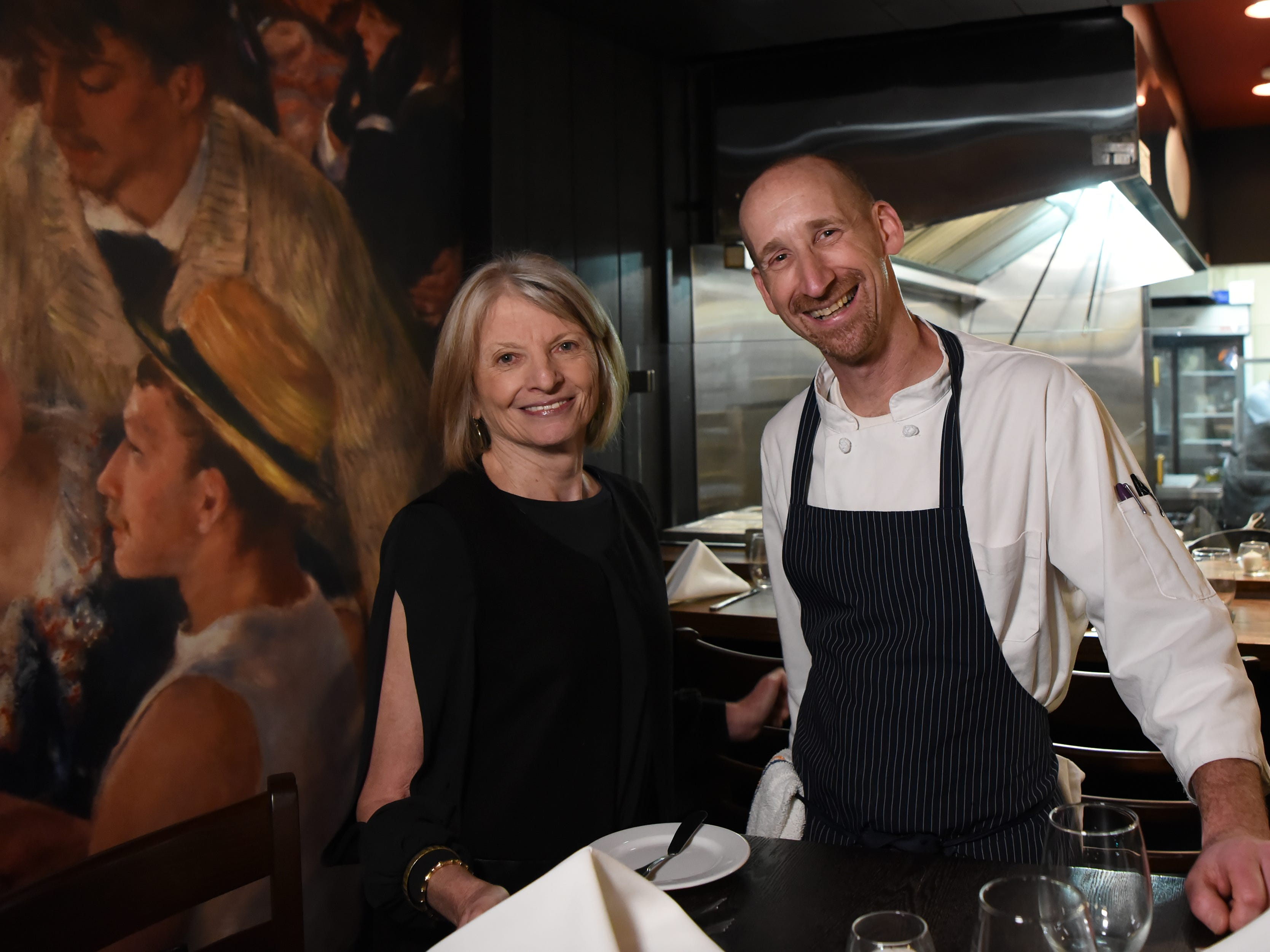 Food editor Esther Davidowitz and Chef/Owner Ross Goldflam at the dinner with Esther at Technique, a French restaurant in Westwood on Thursday February 7, 2019.