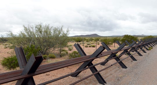Normandy fence along New Mexico's border with Mexico, east of Columbus, in October 2018.