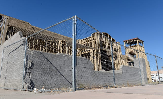 Construction has long been stalled on this building at the entrance to Las Cruces' downtown, shown on Feb. 7, 2019. It has inspired multiple proposals and a city effort to buy the property.