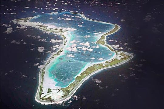 Diego Garcia, British Indian Ocean Territory is one of the largest of 60 small islands making up the Chagoa Archipelago. Airmen from U.S. Air Force Det. 1, 36th Mission Support Group, maintain a forward operating location there, approximately 3,000 miles west of Guam.