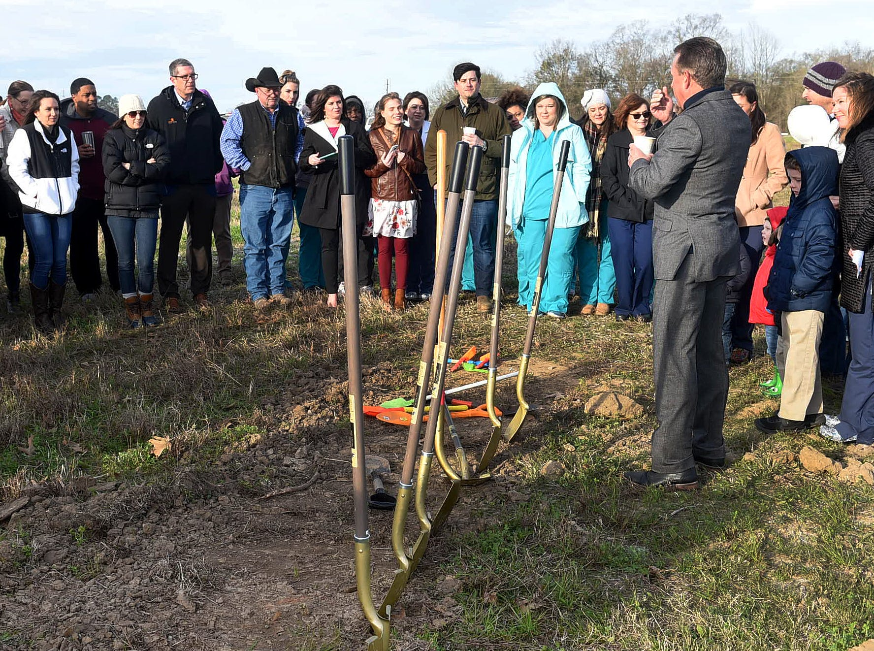 Groundbreaking ceremony for Lily Pad Pediatrics