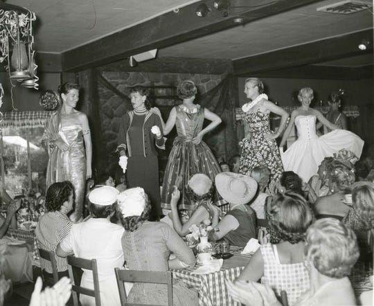 Racquet Club fashion show early 1960s.