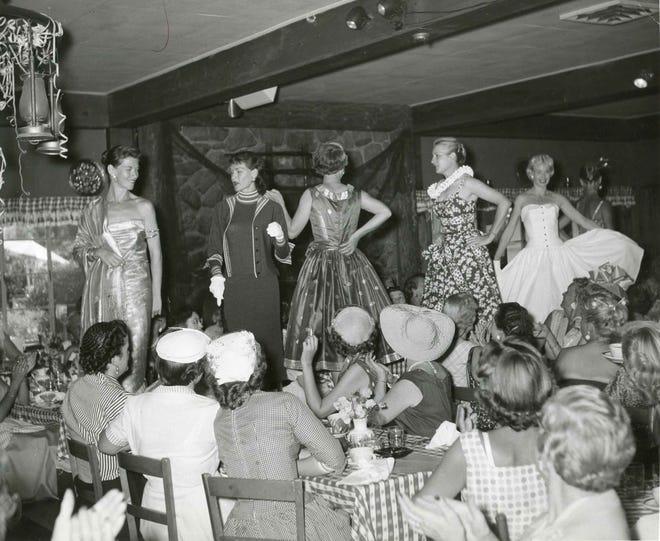 Racquet Club fashion show early 1960s.