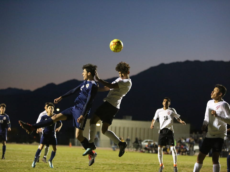 Desert Hot Springs hosted Palm Springs in a CIF round one playoff game in Desert Hot Springs on Thursday, February 7, 2019. Desert Hot Springs won 3-2.
