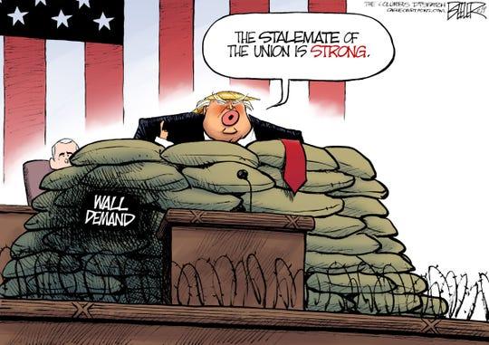 Nate Beeler of the Columbus Dispatch drew this cartoon.