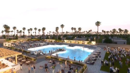 Artist renderings of the Hotel Indigo Coachella, a new 35-acre casita-style resort.