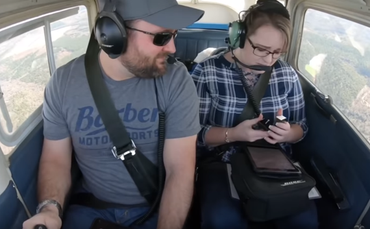 Gulf Breeze's Alan Schiebel and Amanda Anderson became engaged during pilot practice Dec. 23, 2018, over Enterprise, Alabama.