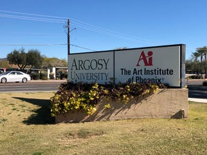 Argosy University is in receivership and facing accreditation issues, while students have not received financial aid funds.