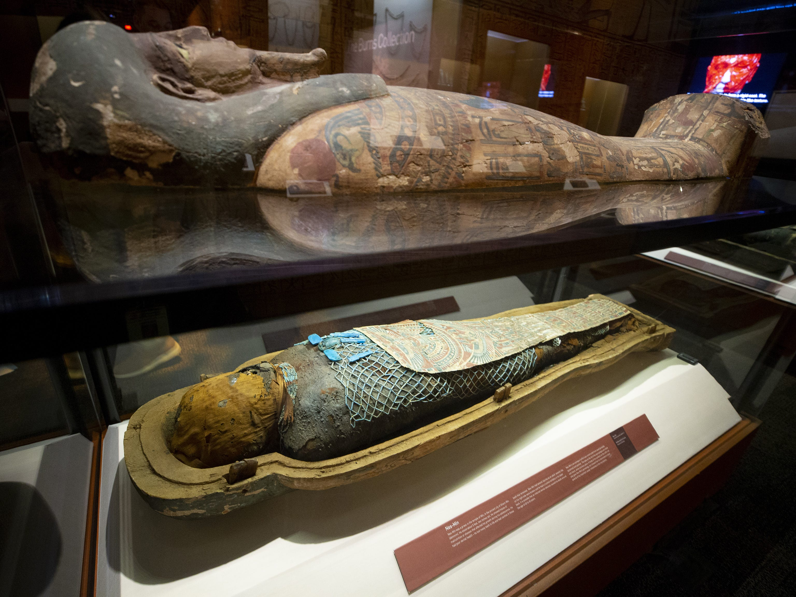 "Mummies of the World: The Exhibition displays Nes-Min, which means, ""the one who belongs to Min."" Min was a fertility god. The exhibit at the Arizona Science Center includes mummies from Egypt, Europe and the U.S."