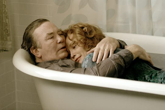 "The love between Edward Bloom (Albert Finney) and his wife Sandra (Jessica Lange) is ageless in 2003's ""Big Fish."""
