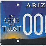 "Arizona's ""In God We Trust"" plate"