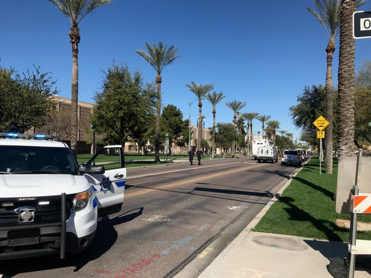 Roads reopen after a bomb threat near the Arizona state Capitol on Friday Feb. 8, 2019.