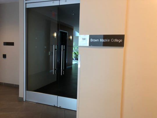 Argosy University lists an address inside an office building as its campus, but the address is an empty office suite.