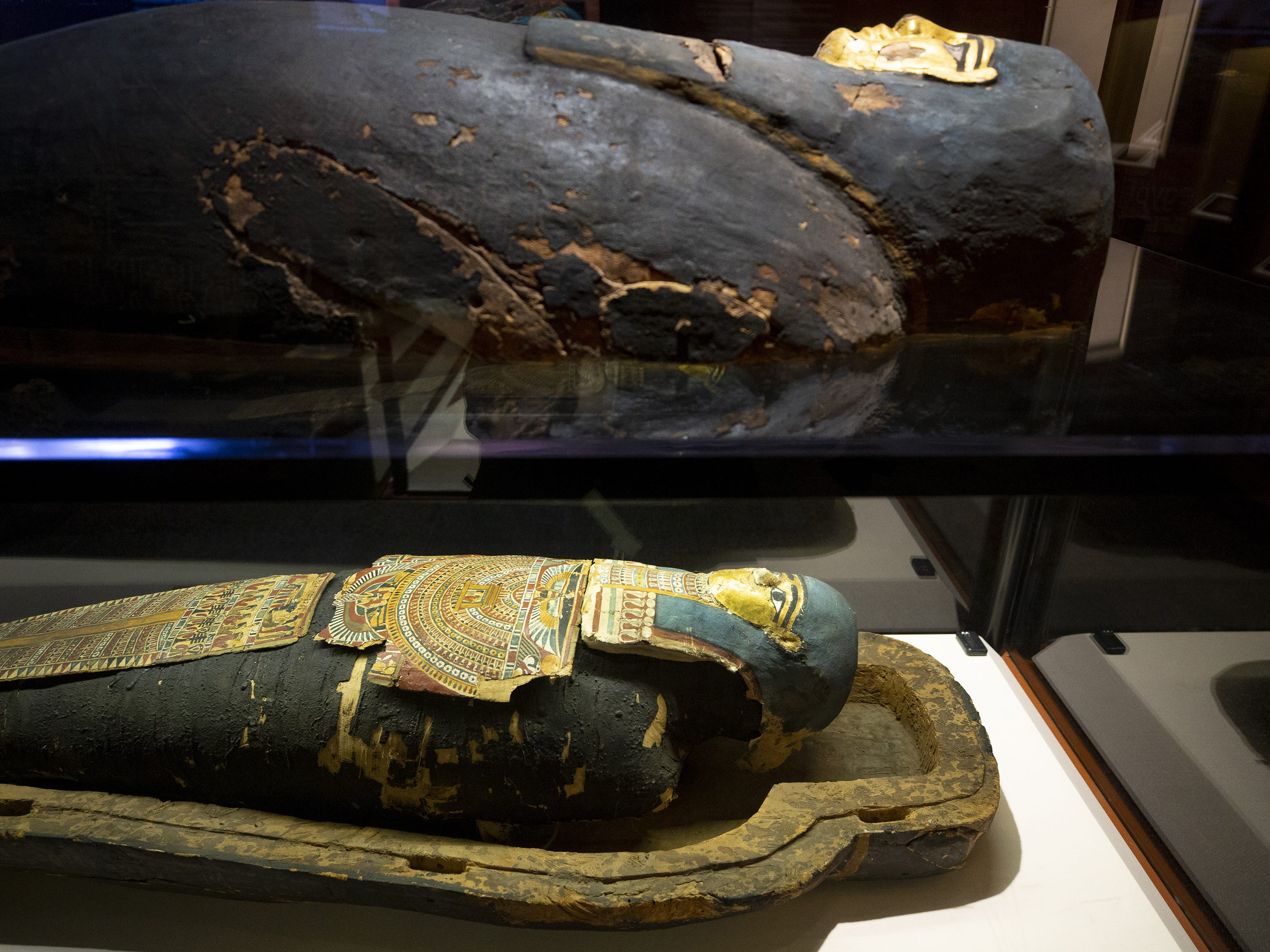 Mummies of the World: The Exhibition displays Nes-Hor, an Egyptian priest from the Temple of Min. The public can explore the exhibit at the Arizona Science Center.