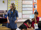 Robin Watson teaches a 2nd grade class on Thursday, Feb. 7, 2019, at Longfellow Elementary in Mesa, Ariz. A new bill going through the legislature would change how much mandated instruction time ELL students receive, and would curb unintended consequences like segregated recess and lunch periods.