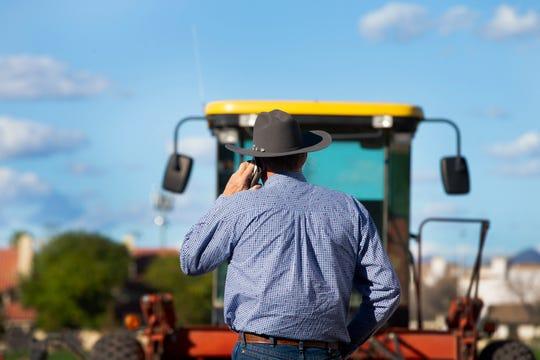 Mesa Vice Mayor Mark Freeman talks about urban farming at Freeman Farms in Mesa.