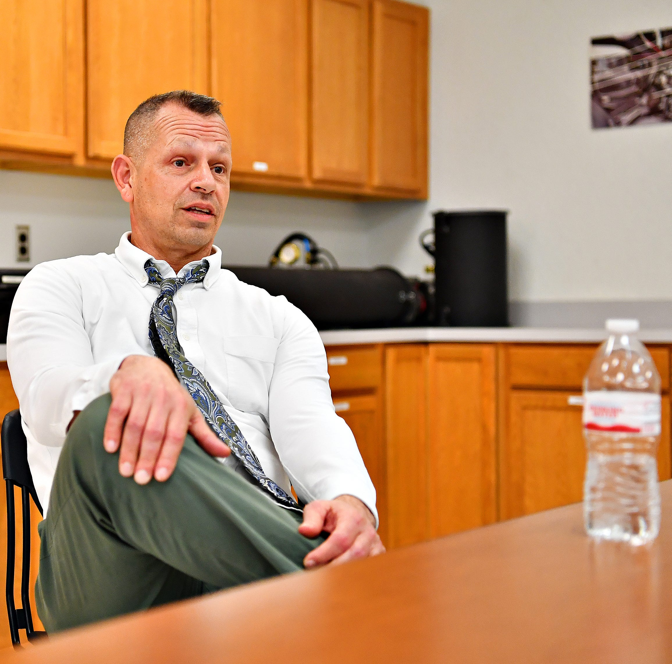 Assistant Chief County Detective Jeff Spence talks about the York County Law Enforcement Resource Center during a tour in York City, Thursday, Feb. 7, 2019. Dawn J. Sagert photo