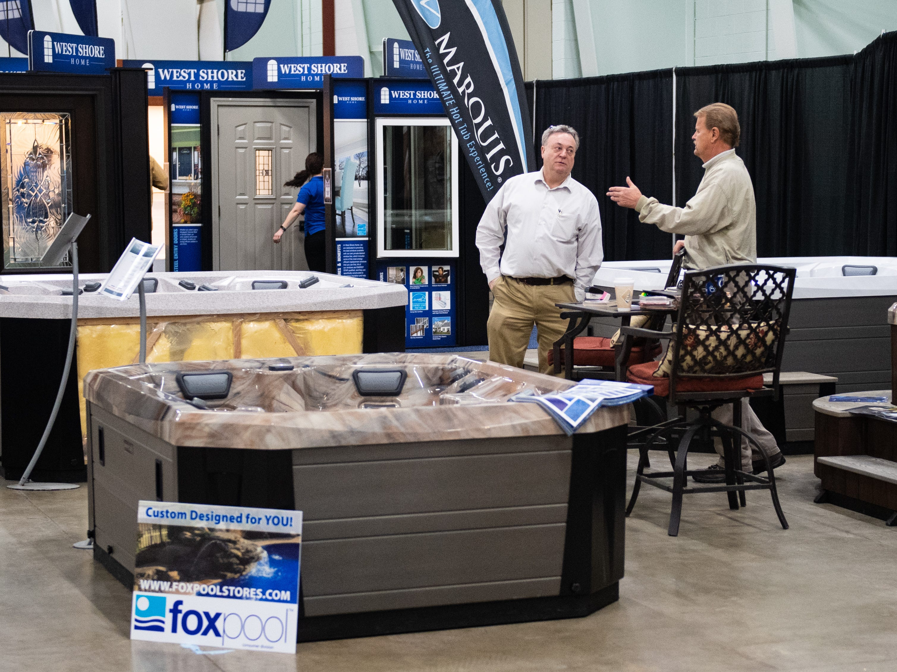 Fox Pool has a booth at the 2019 Home & Garden Show, February 8, 2019.