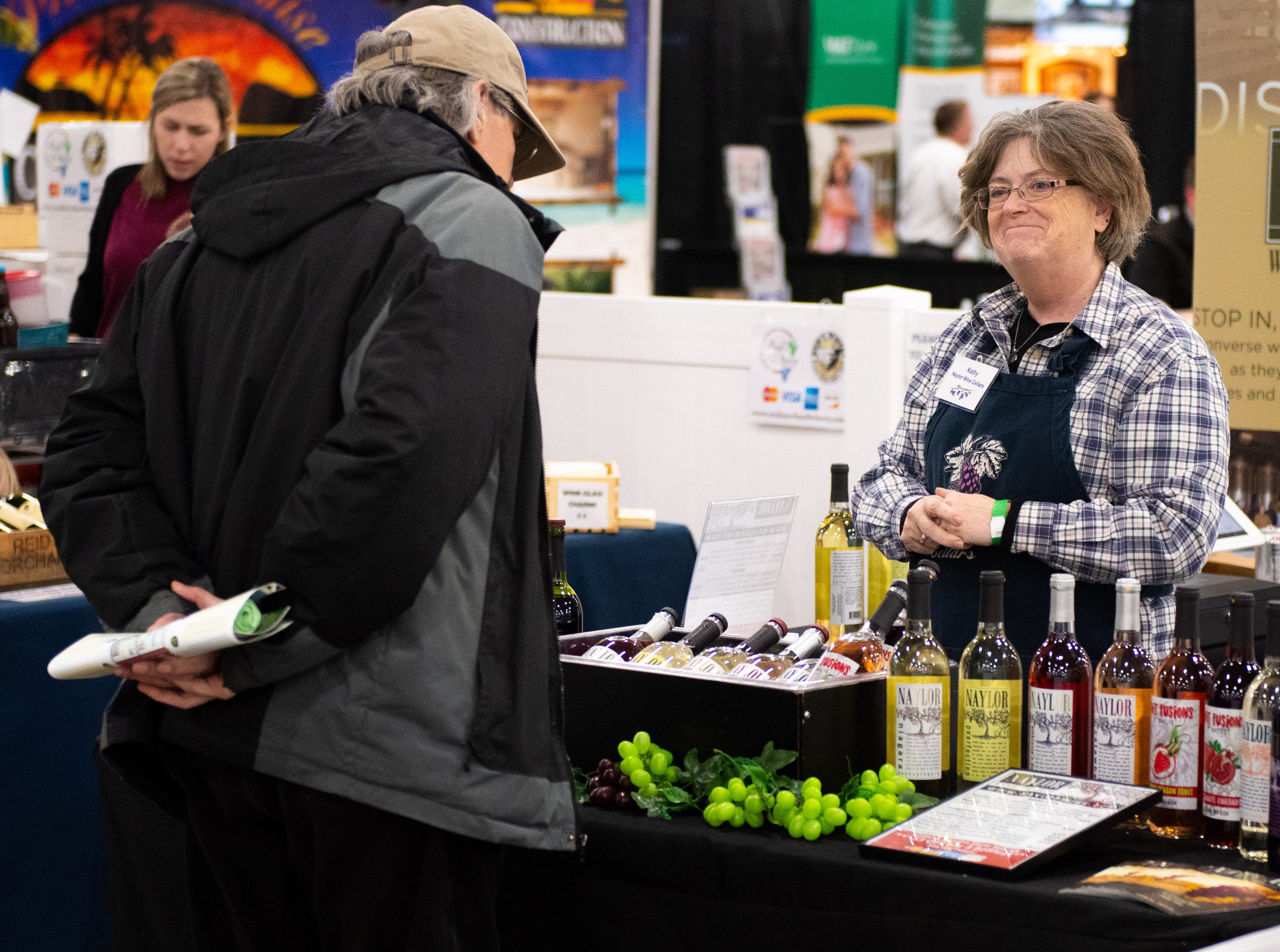 Wine is on sale at the 2019 Home & Garden Show, February 8, 2019.