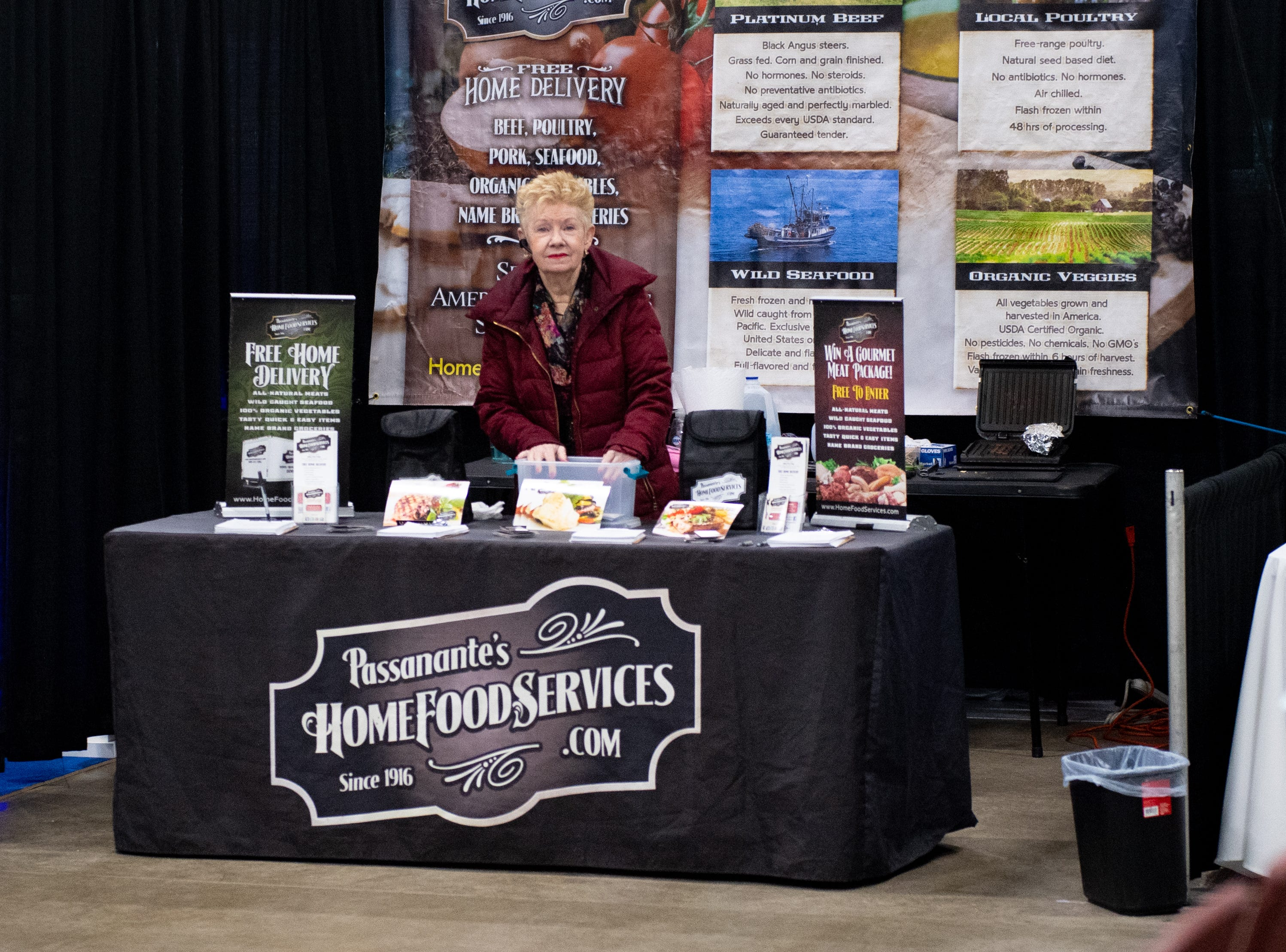 Passanante's Home Food Services has a booth at the 2019 Home & Garden Show, February 8, 2019.