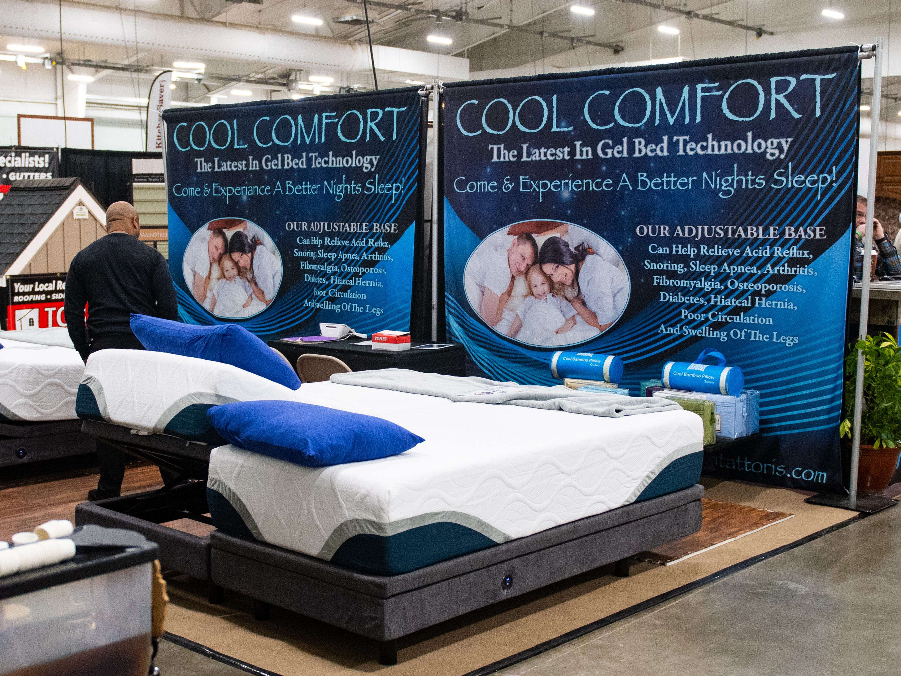 Cool Comfort has a booth at the 2019 Home & Garden Show, February 8, 2019.