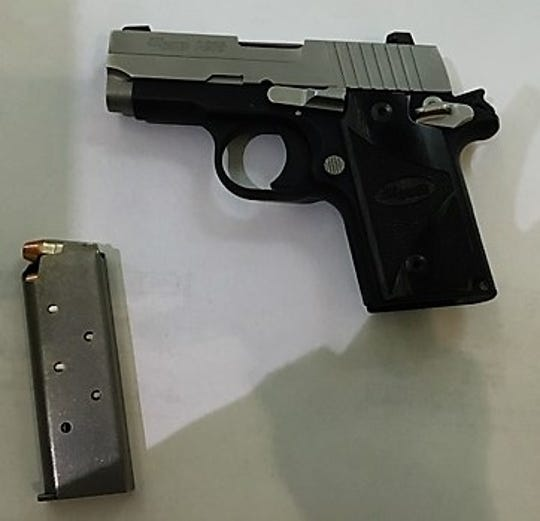 A Gettysburg man was arrested in connection with bringing  this loaded gun to the Baltimore Washington International Thurgood Marshall Airport on Thursday.