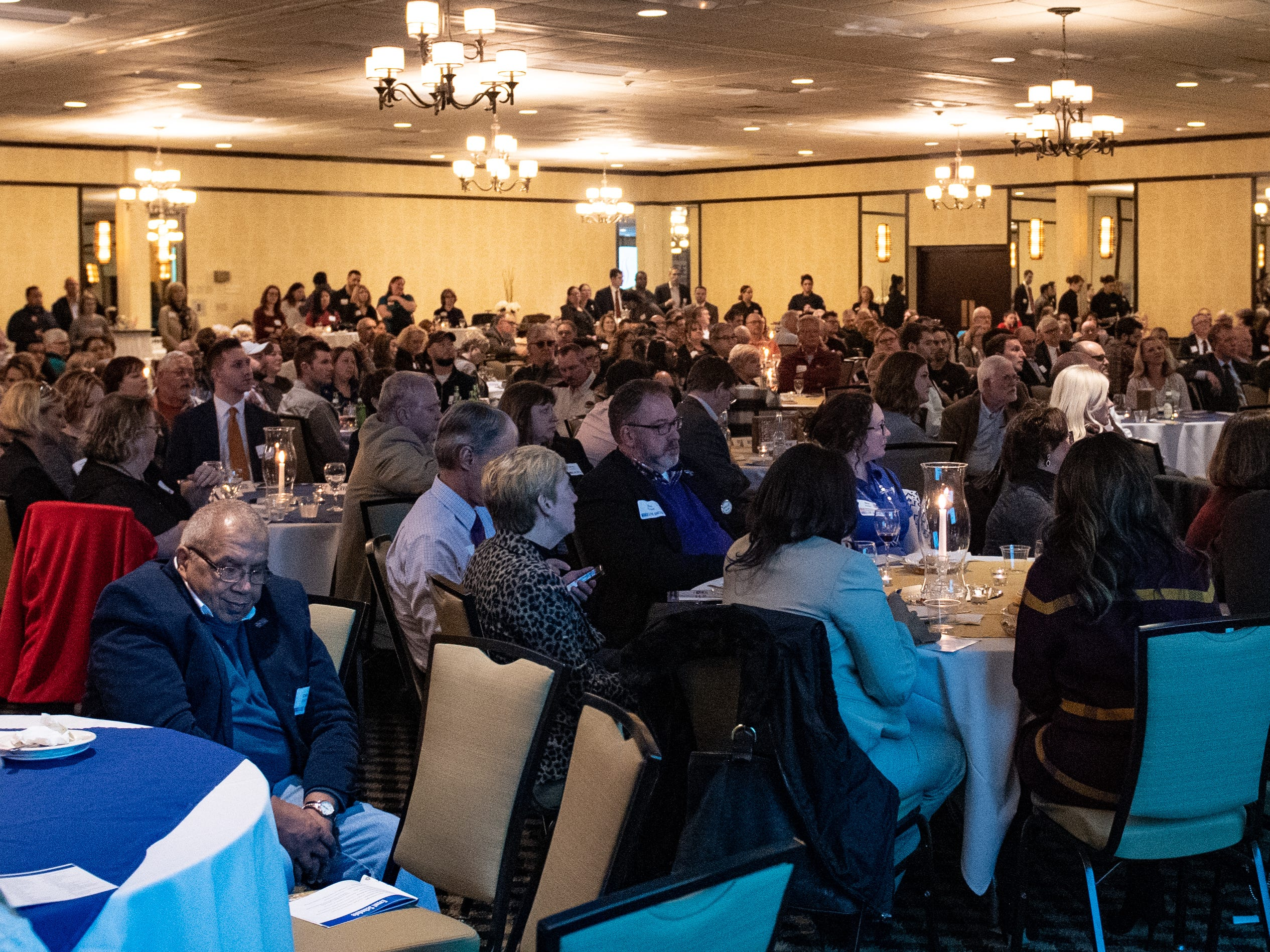 Every seat in the Wyndham Garden York Ballroom is filled during the 2018 United Way Campaign Celebration, February 7, 2019.