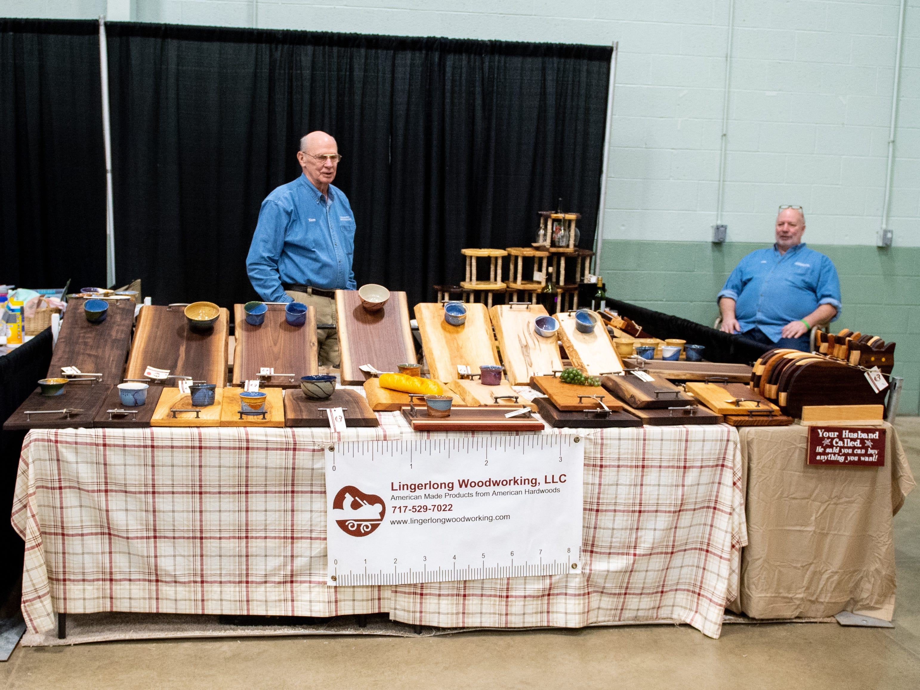 Lingerlong Woodworking, LLC has a booth at the 2019 Home & Garden Show, February 8, 2019.