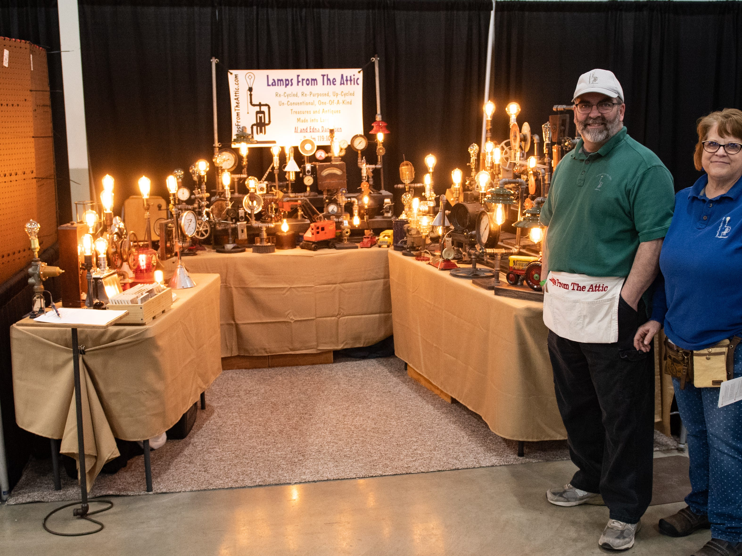 Lamps From The Attic has a booth at the 2019 Home & Garden Show, February 8, 2019.