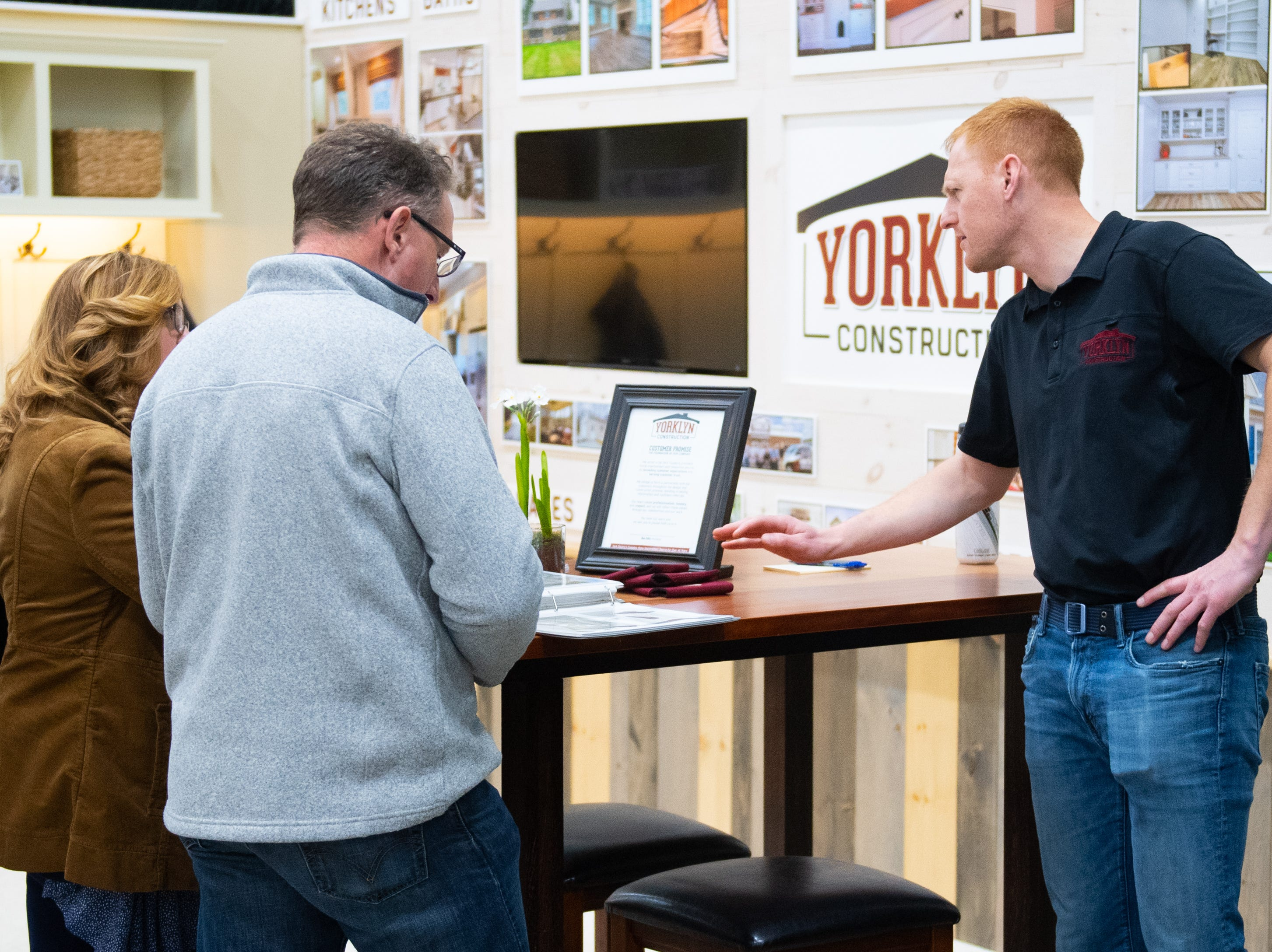 Yorklyn Construction has a booth at the 2019 Home & Garden Show, February 8, 2019.