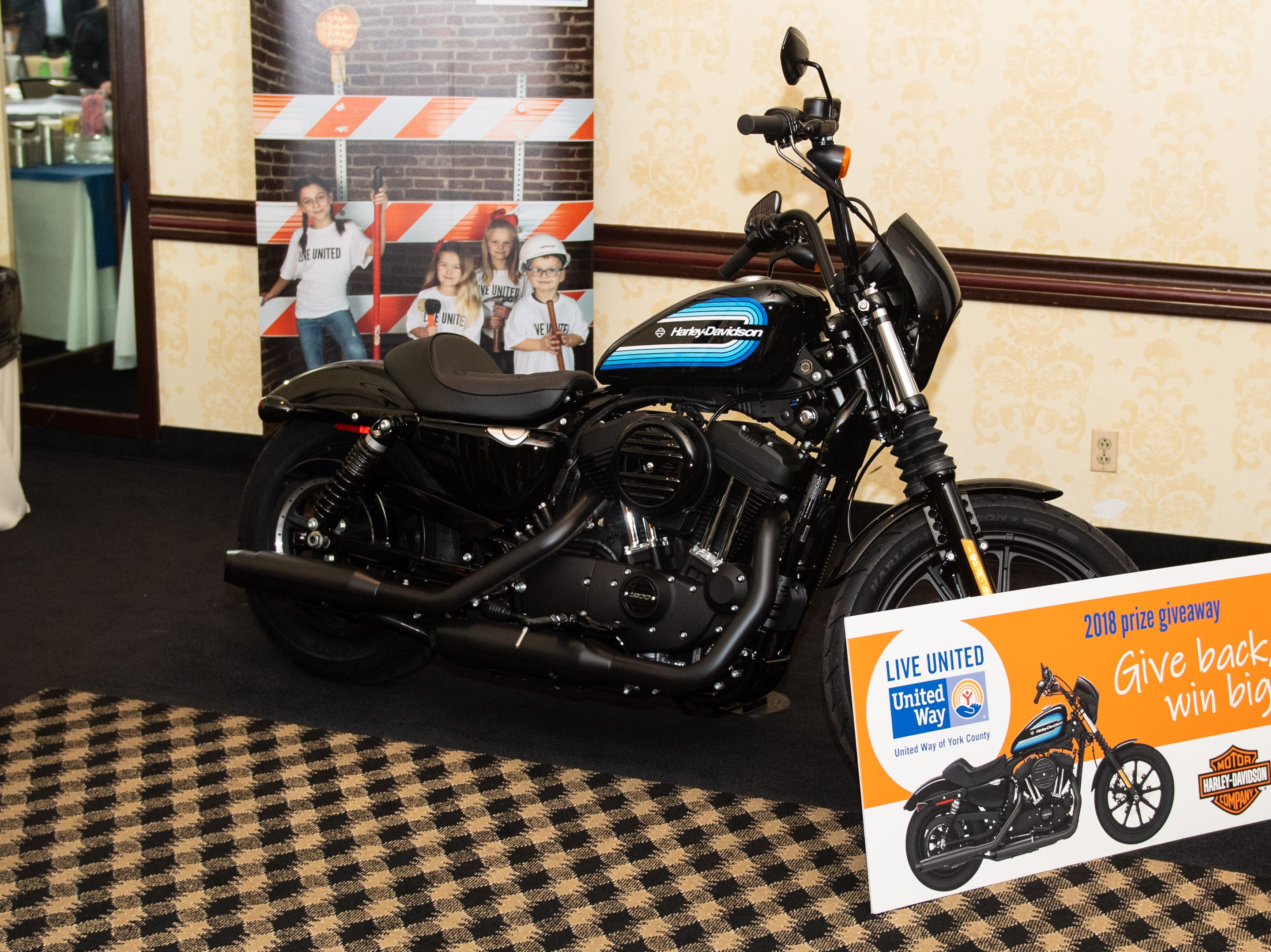 The Giveaways were saved for the end of the night. The grand prize is a 2019 Harley-Davidson Iron 1200 Motorcycle, donated by Harley-Davidson Motor Company, February 7, 2019.