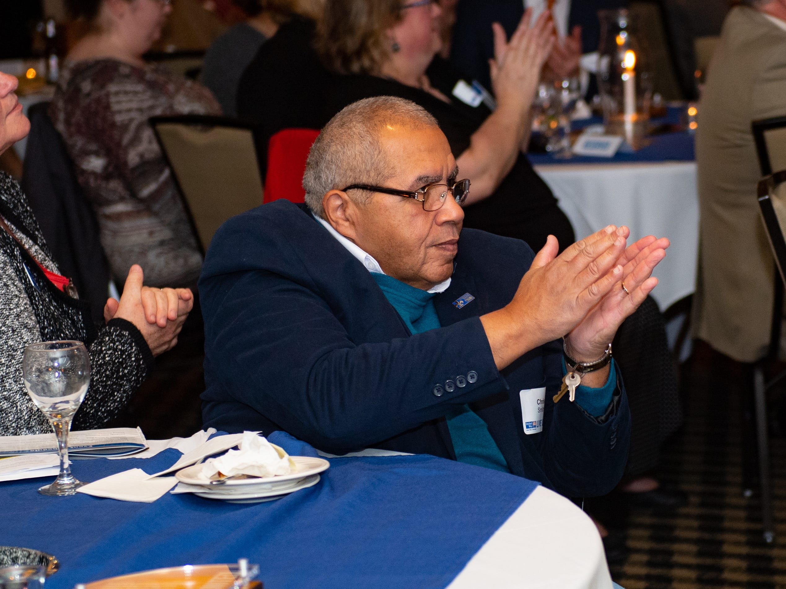 After every winner is announced, the crowd erupts into a loud and an endearing applause during the 2018 United Way Campaign Celebration, February 7, 2019.