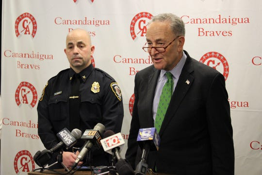 U.S. Sen. Charles Schumer talks about plans for new federal laws following a sextortion scheme targeting local kids.