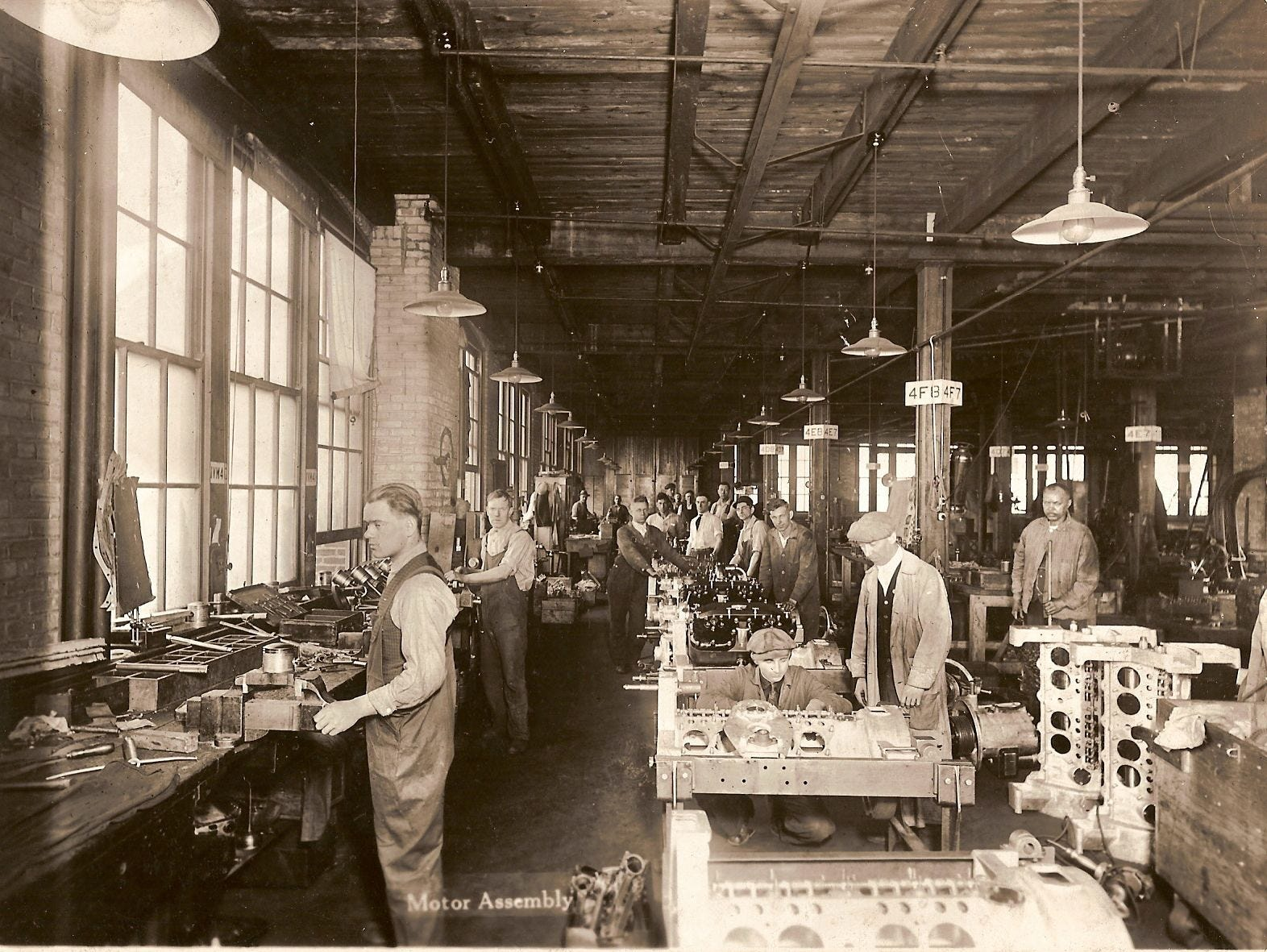 A circa 1920 image from the former Cunningham Carriage Factory on Litchfield Street.