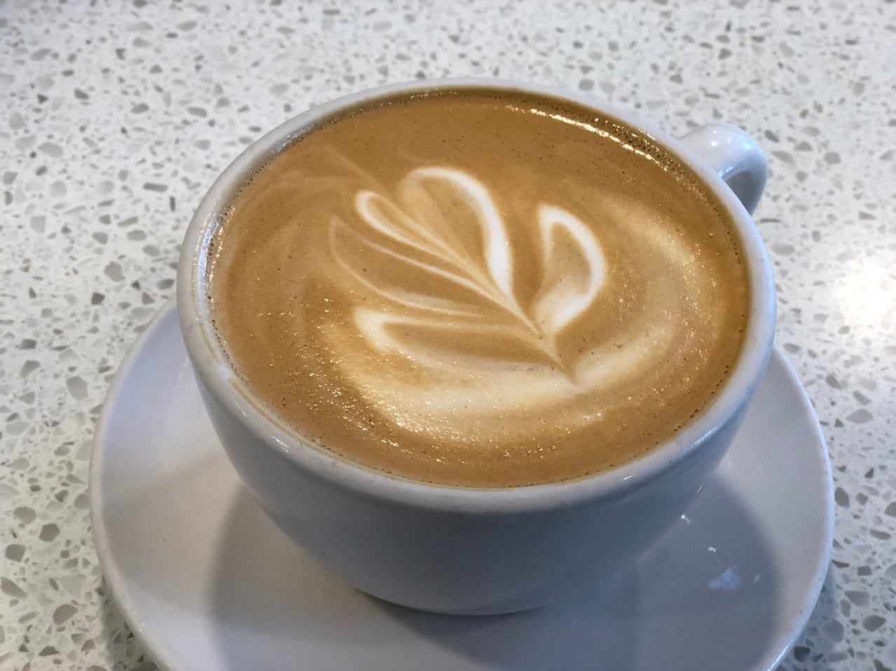 A latte at the Coffee Bar in downtown Redding.