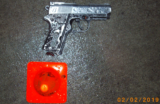This is the replica firearm that was seized as evidence after an officer-involved shooting at a Safeway on Constitution Boulevard on Feb. 1.
