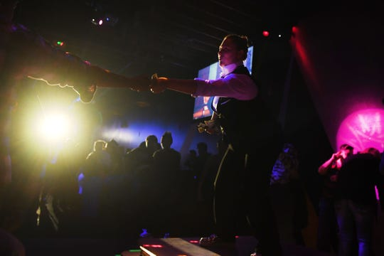 Drag king Maddix Wild, Quinn Kathner, performs at Club David Saturday, Feb. 2, in Sioux Falls. This was the first drag king show at Club David in five years.