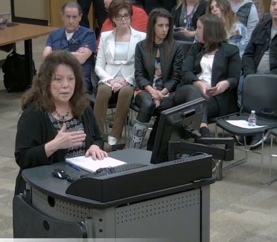 Lora Hopper, principal of York Elementary, spoke Tuesday in front of the Springfield school board. She talked about the integration of technology in the classroom.