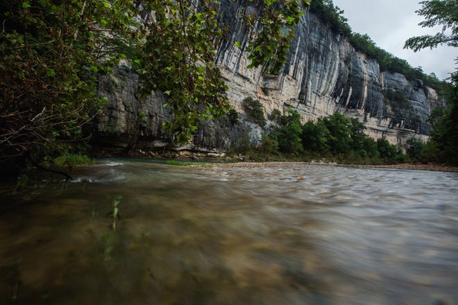 The towering bluffs along the Buffalo National River helped draw 1.5 million people to the national park in 2017.