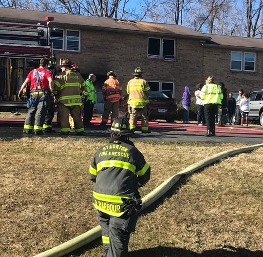Firefighters responded to a blaze Friday morning at the Miller Street Apartments.