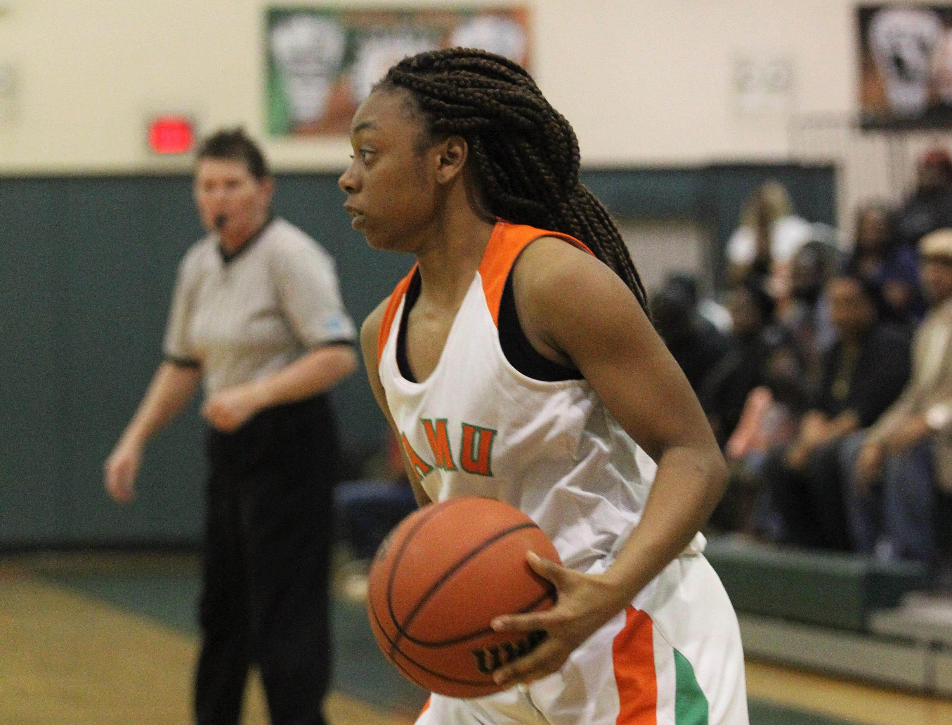 FAMU DRS' girls basketball team beat NFC 59-41 for a District 1-3A title on Jan. 7, 2019.
