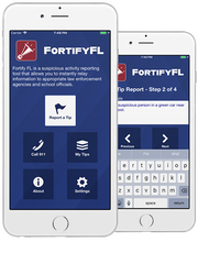 FortifyFL is an app that allows users to report potential threats directly to school officials and law enforcement