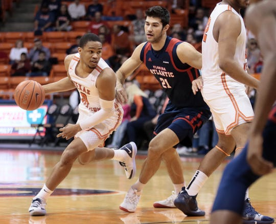 UTEP dropped one Thursday night, Feb. 7, 2019, to Florida Atlantic 61-48 at the Don Haskins Center.