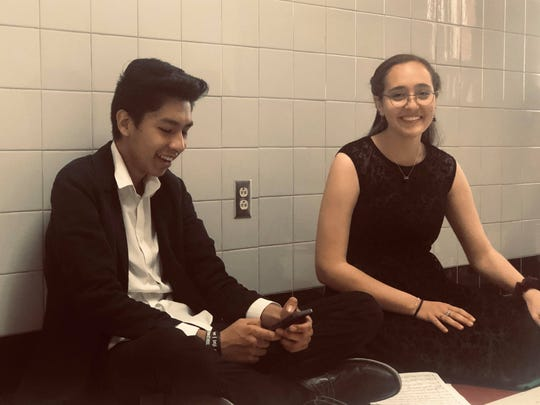 Cellists Roussel Acosta, and Mia Gonzales, have been friends since fifth grade.