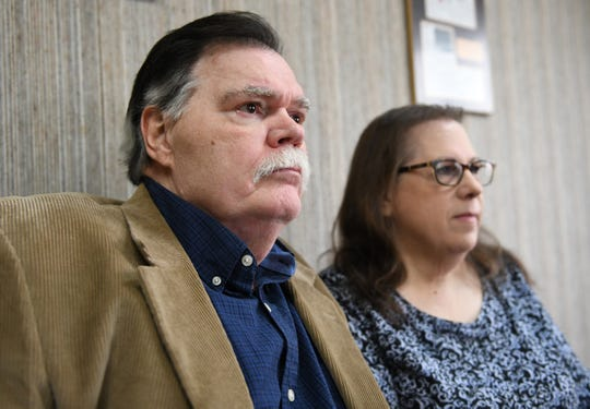 Plaintiff David J. Carpenter pictured here with his wife Susan at his attorney Charles I. Coant's office in Vineland on Wednesday, Jan. 23, 2019. Carpenter is involved in a federal lawsuit against the Millville Police Department.